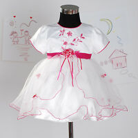 New Flower Girl Party Bridesmaid Wedding Pageant Dress in 4 Colours From 0M-18M