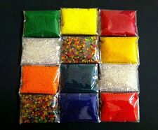 12 Bags (3-4grams/Bag, 6000+pcs) Crystal Soil for Gardening & Orbeez Refill