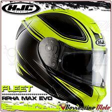 CASCO MODULARE HJC RPHA MAX EVO FLEET MC4H CARBONIO NERO/GIALLO FLUO TAGLIA M