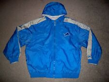 Mens Vtg 90's PUMA DETROIT LIONS Reversible Hoodie Jacket XL LIGHT BLUE w/Logo