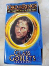 THE LORD OF THE RINGS FELLOWSHIP OF THE RING BURGER KING GLASS GOBLET STRIDER 01