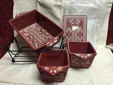 Temp-tations Bakeware Set, Old World, Cranberry Red, 8pc, New
