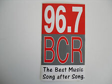RADIO BCR STICKER.