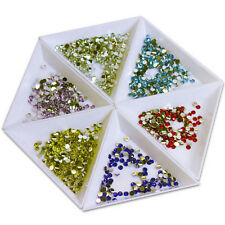 4x Container Holder Triangle Phone / Craft / Nail Art / Rhinestones Gems Bead EW