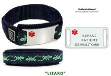 BYPASS PATIENT Sport Medical Alert ID Bracelet. Free medical Emergency Card!