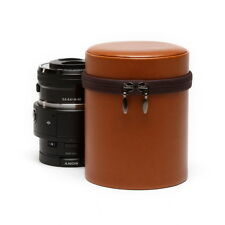 Zenus Lens Vintage Leather Carrying Bag Protect Zipup Case For Sony ILCE QX1