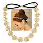 Hot Fashion Lovely Women Ladies Hollowed Rose Flower Elastic Hair Band Headband