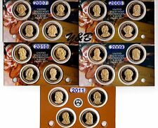 Complete Presidential dollar 2007 - 2011 S Proof set (each president) 20 coins