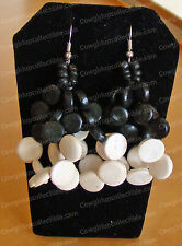 4030124 - Cream & Black Double Earrings (Global & Vine, Culture Club) Coconut