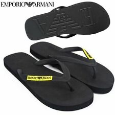 BRAND NEW 100% GENUINE EMPORIO ARMANI MENS BLACK FLIP FLOPS SIZE 9 SANDALS