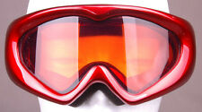 XG Ski SNOWBOARDING Goggle-Red-Orange/Amber LENSES-Kid Size