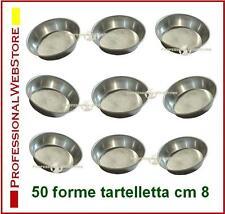 STAMPI PASTICCERIA FORME TARTELLETTE IN ALLUMINIO 50 PZ cm 8x2 stampini dolci