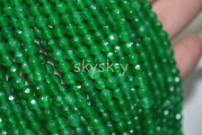 """Natural 6mm Faceted green emerald Round Gems Loose Beads 15"""" Strand AA"""