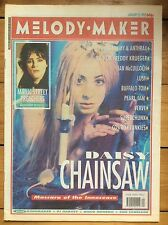 Melody Maker 25/1/92 Daisy Chainsaw cover, Manic Street Preachers, Pearl Jam