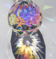 30mm ASFOUR Aurora Borealis German CRYSTAL faceted  AB PRISM ball Suncatcher!