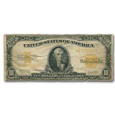 1922 $10 Gold Certificate Hillegas Fine - SKU #39216