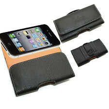 Black Leather Belt Pouch Clip Wallet For iPhone 4 4S 4G 4GS 3G 3GS Apple
