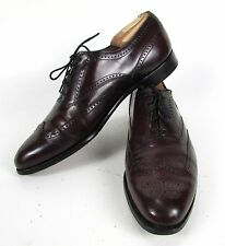 """Aristocraft Oxblood """" JOHNSTON & MURPHY """" Men's 9.5 B/AA Leather Wing Tip Shoes"""