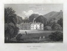 THE GRANGE, BROADHEMBURY, DEVON original antique print 1829