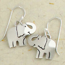 Smiling Elephant Dangle Earrings 925 Sterling Silver Far Fetched Gift Boxed