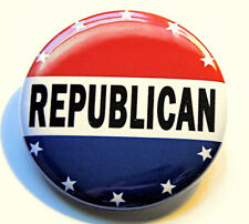 """REPUBLICAN - Novelty Button Pinback Badge 1.5"""" Campaign Political Red White Blue"""