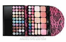 Beauty Treats Love Purse Eye Shadow Makeup Gift Set in Hot Pink w/Black Lace