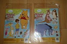 SET OF 2 DISNEY WINNIE THE POOH REMOVABLE & REUSABLE CHILDREN/KIDS WALL STICKERS