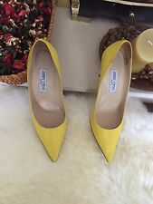 Authentic Jimmy Choo Agnes Kid 85mm, Yellow. 40