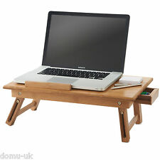 Vonhaus bamboo portable pliant ordinateur portable/notebook table avec tiroir