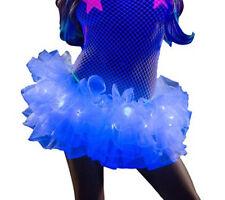 White Light Up Tutu w Blue LED Lights Petticoat OS Rave EDC J Valentine CL511