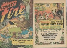 FOREST FIRE RARE 1st SMOKEY THE BEAR 1950 PROMOTIONAL GIVEAWAY PROMO COMIC VFNM