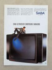 E086 - Advertising Pubblicità - 1987 - SABA TELEVISORE ULTRACOLOR T 70 U 95