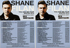 4 X SHANE FILAN WESTLIFE WINTER 2014 YOU & ME TOUR FLYERS.