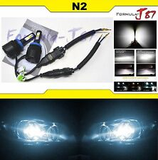 LED KIT N2 72W H11B 6000K White Head Light Upgrade Two Bulbs Compact Low Beam