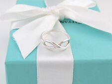 AUTHENTIC TIFFANY & CO SILVER INFINITY RING SIZE 7.5 BOX INCLUDED