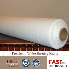 "New White Sheeting Fabric Poly Cotton Sheeting Fabric 94""/240cm Wide / Per Meter"