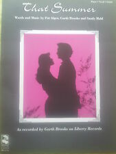 Garth brooks: cet été (piano/vocal/guitar sheet music) - out of print, mint!