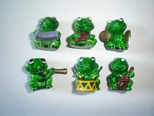 BORGMANN HAPPY FROGS BAND MINI FIGURINES SET - FIGURES MINIATURES COLLECTIBLES