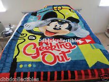 NEW!! DISNEY MICKEY MOUSE plush raschel style twin blanket 60x80 licensed
