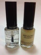 REVLON Colorstay Longwear Nail Enamel ,Top Coat + Base Coat , NEW.