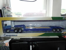 Cararama Oxford CR035 Scania Nooteboom Low Loader Eddie Stobart Rail 1/50 Scale