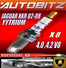 For JAGUAR XKR 4.0 4.2 V8 2002-2008 BRISK SPARK PLUGS X8 YYTRIUM FAST DISPATCH