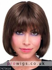 100% Real Hair Beautiful Sexy Short Brown Straight Wig For Woen Human Hair NEW