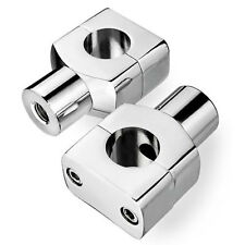 "7/8"" 22mm Motorcycle CNC Universal Alumium Handlebar Riser Clamp Taper Chrome"