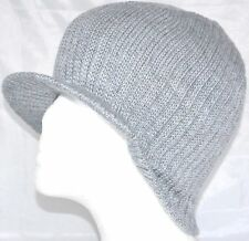 Decky Solid Campus Jeep Cap Visor Beanie Ski Cap Caps Hat Hats Toque Gray