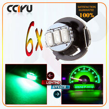 6X T4.2/T4 Green 3014SMD 3LED Neo Wedge Instrument A/C Climate Heater Light Bulb