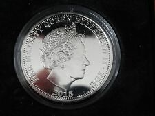 2015 TDC Tristan Da Cunha SILVER PROOF ONE CROWN -MINTAGE ONLY 2015