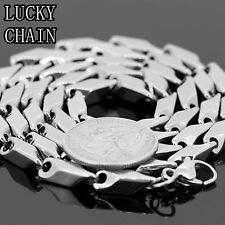 """MEN'S 30"""" STAINLESS STEEL SILVER BULLET CHAIN NECKLACE 6MM 92g C129"""