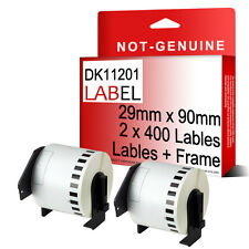 2 X Compatible DK11201 Printer Labels Roll + Frame for Brother QL560 QL570 etc