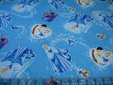 1 Yard Quilt Cotton Fabric- Springs Disney Princess Cinderella Toss Blue